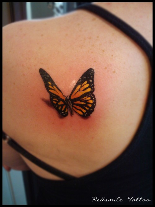 13_3d Tattoo Butterfly