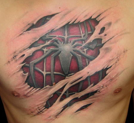 17_Spider 3D Tattoo