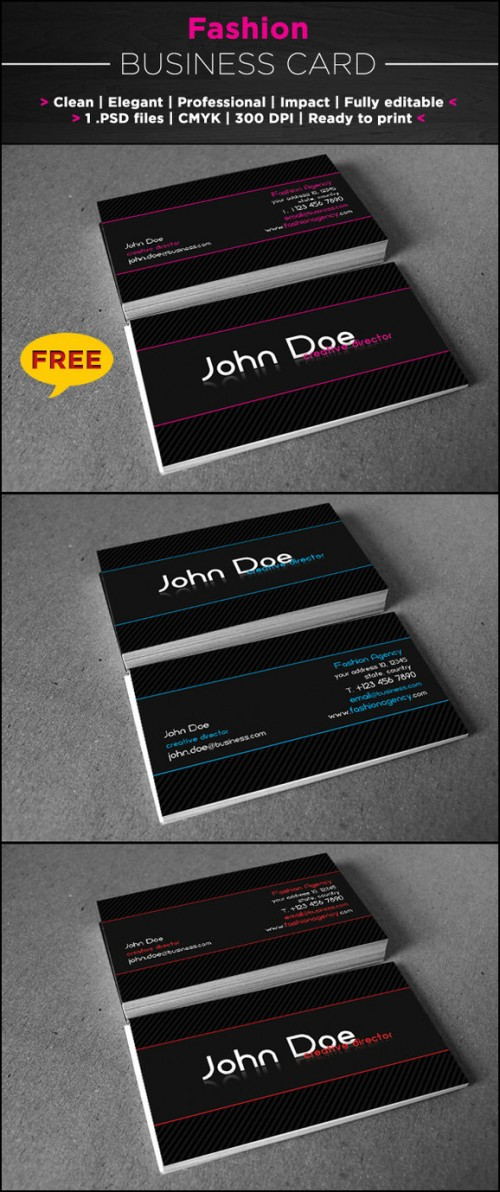 3_Free Fashion Business Card