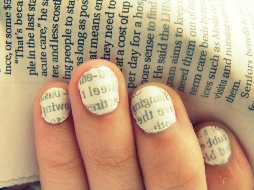 15_Newspaper Nail Tutorial