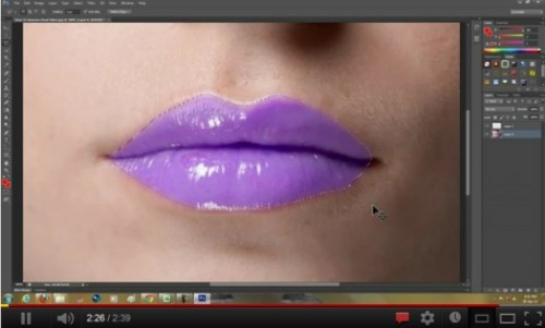 16_How to change Lip color in Photoshop CS6