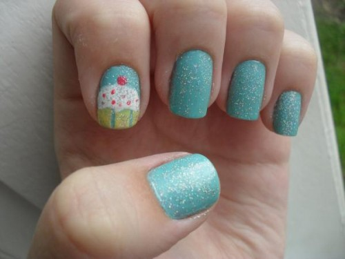 19_Nail Art - Cupcake