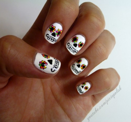 21_Day of the Dead Nail Art