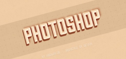 3_Hipster Text Effect in Photoshop CS6