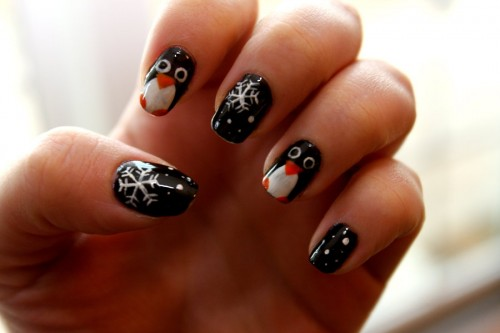 4_Penguin Nail Art