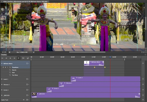 8_How to Use the New Timeline Panel in Photoshop CS6