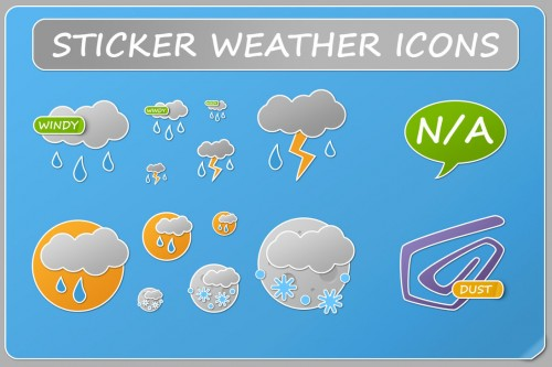 10_Sticker Weather Icons