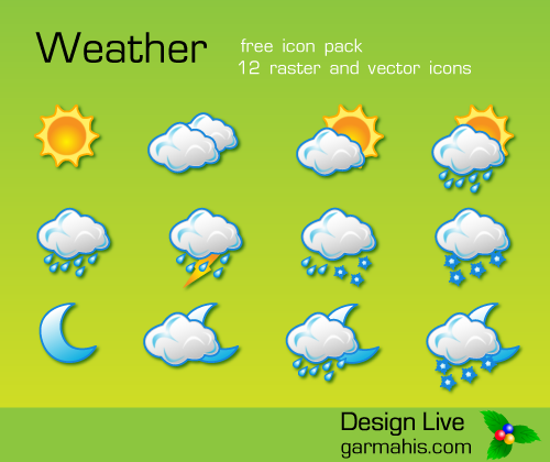 11_Free Vector Weather Icon Pack