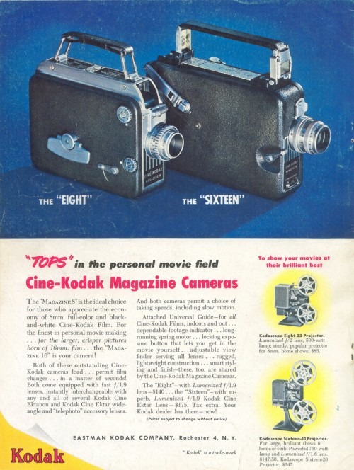 13_Kodak Cine Move Camera Ad 1949