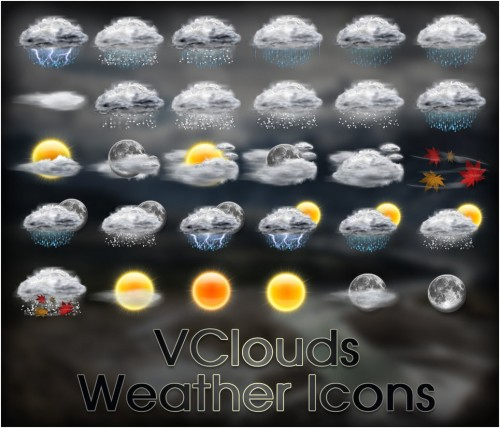 20_VClouds Weather Icons