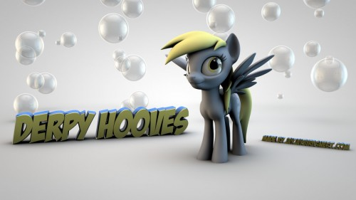 21_Derpy Hooves 3D Wallpaper - Bubbles