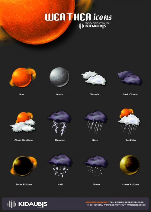 25_Weather Icons by Kidaubis