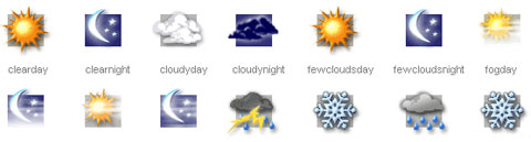 29_Weather Sniffer  PSD Weather Icons