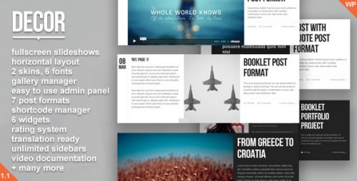 30_Decor - Fullscreen Creative WordPress Theme