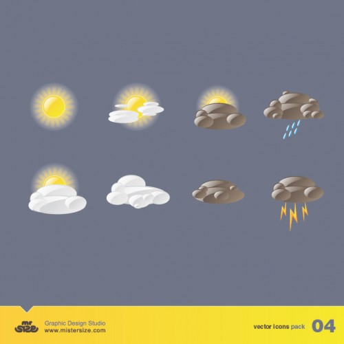 30_Weather Vector Icons Pack 04
