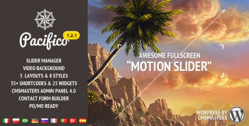 33_Pacifico - Fullscreen WP Theme with Motion Effect