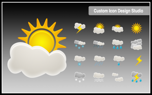 34_Beautiful Weather Icon Set