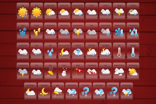 4_Weather Icon Set