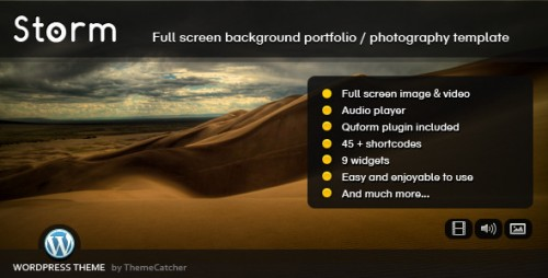 7_Storm WordPress - Full Screen Background Theme