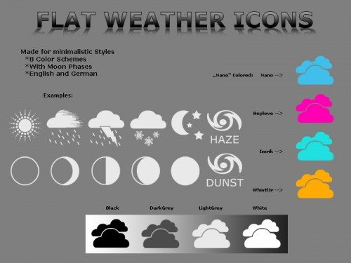 8_Flat Weather Icons