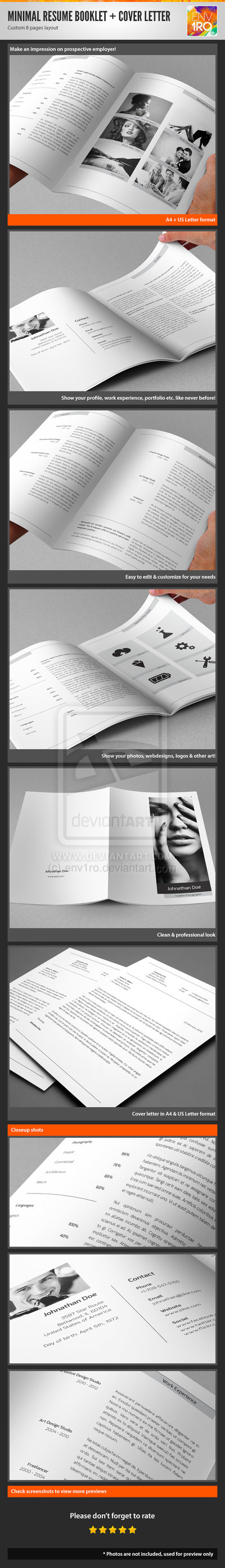 34_Minimal Resume Booklet and Cover Letter