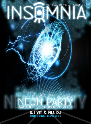 20_Flyer Insomnia Neon Party