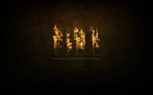 24_Dramatic Text on Fire Effect in Photoshop