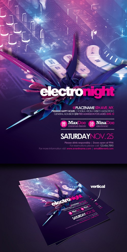 26_Flyer Electro Night