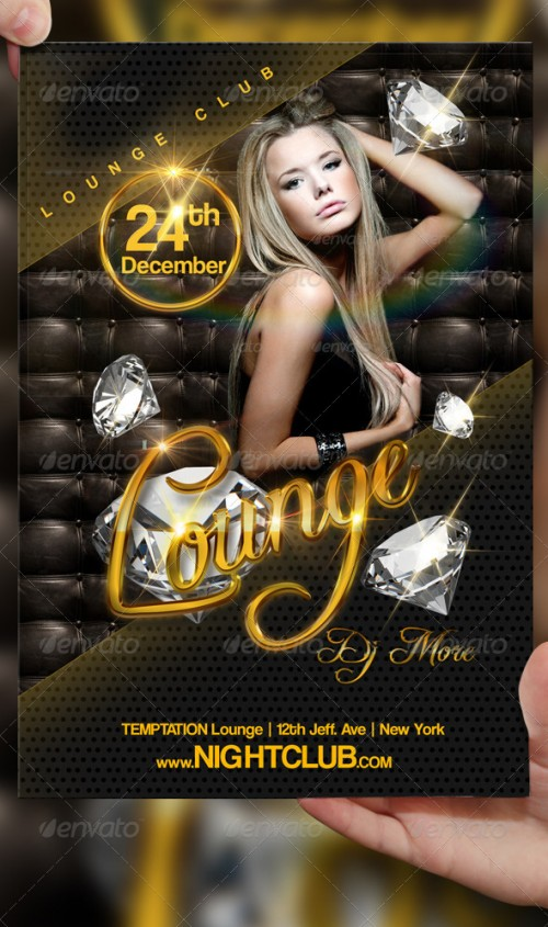 40_Lounge Party Flyer Template