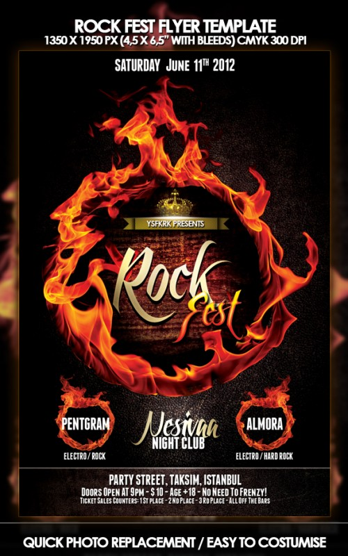 44_Rock Fest Flyer Template