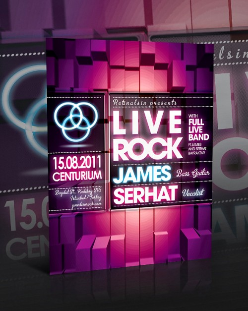 4_Liverock Flyer Template -PSD-