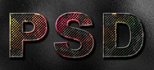 50_Create Eroded Metal Text with Photoshop