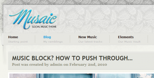 10_Musaic - Music Inspired Wordpress Theme