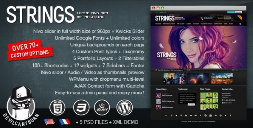 13_Strings Music and Art Magazine Wordpress