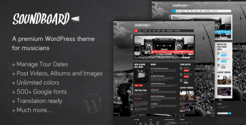 3_Soundboard - A Premium Music WordPress Theme