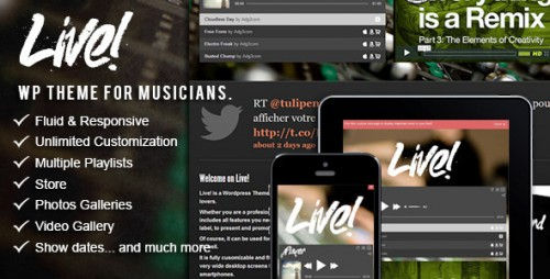 6_Live - Music Wordpress Theme