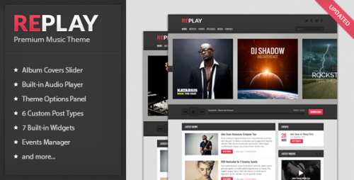 8_Replay - Responsive Music WordPress Theme