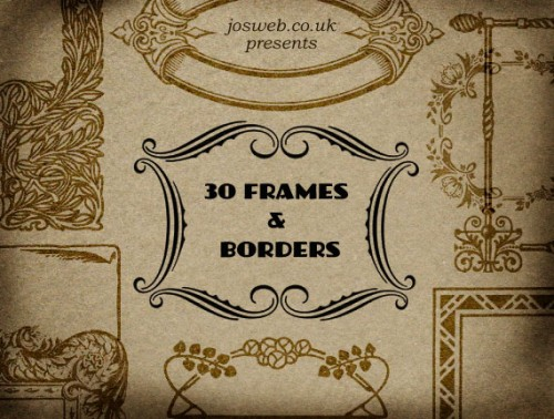 30 Frames and Borders Brushes