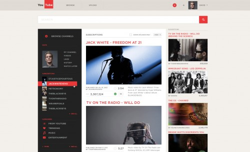 YouTube – Redesign
