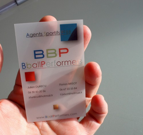 Clear Business Cards on PVC