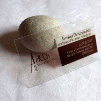 Clear Transparent Business Cards Architect Group