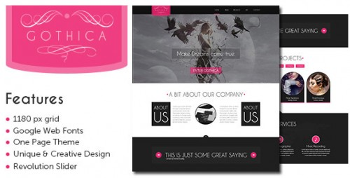 Gothica - One Page WP Theme in Goth Style