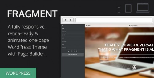 Fragment - Responsive One Page WordPress Theme