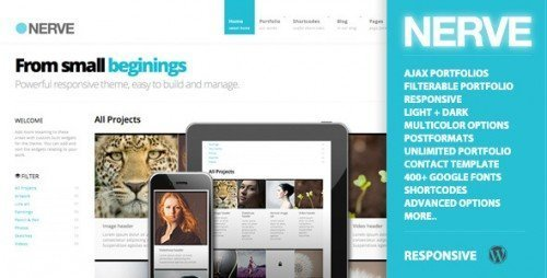 Nerve Responsive Portfolio for WordPress