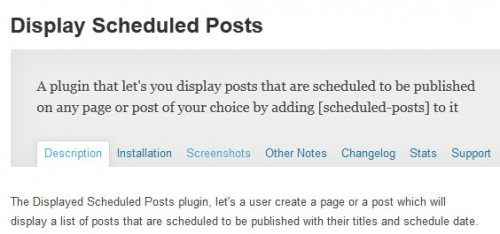 Display Scheduled Posts
