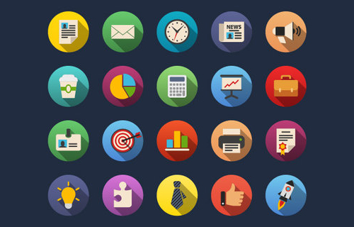 Free Business Flat Icons