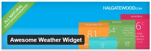 Awesome Weather Widget