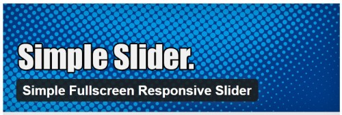 Simple Fullscreen Responsive Slider