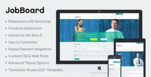 JobBoard - Responsive Job & Resume Market WordPress Theme