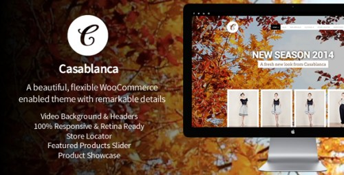 Casablanca Online Store With Background Video Theme